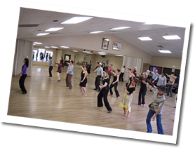 group dance class at fred astaire dance studio in raleigh